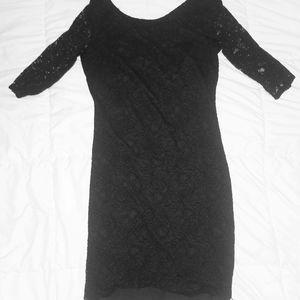 Black Lace Dress - Banana Republic